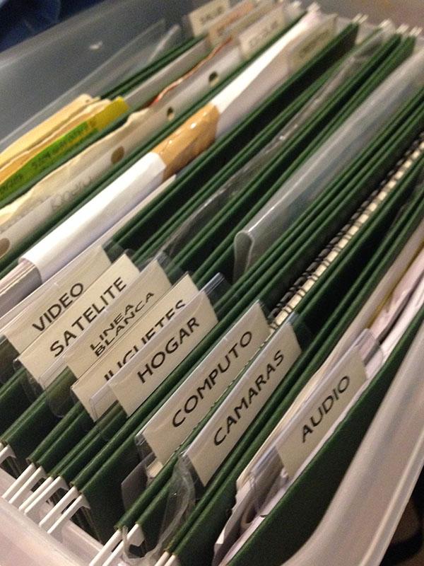 Organizaci n de archivos dom sticos nachorganiza - Ideas para organizar papeles en casa ...